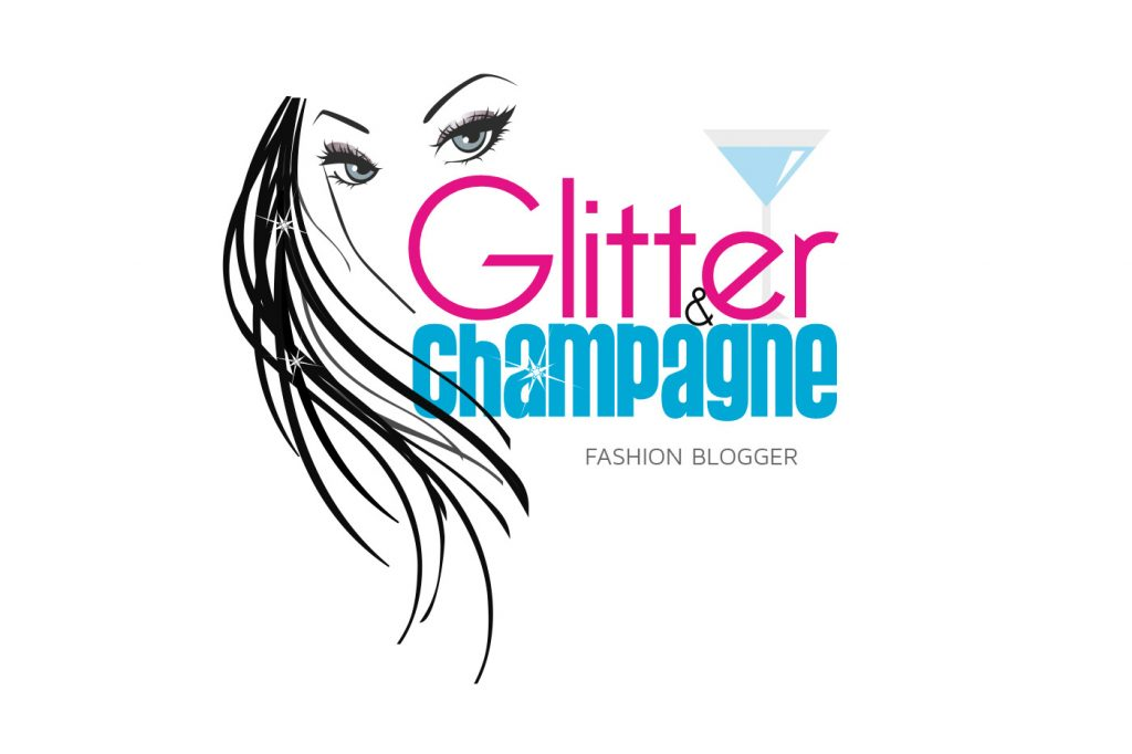 Glitter Champagne Fashion Blogger