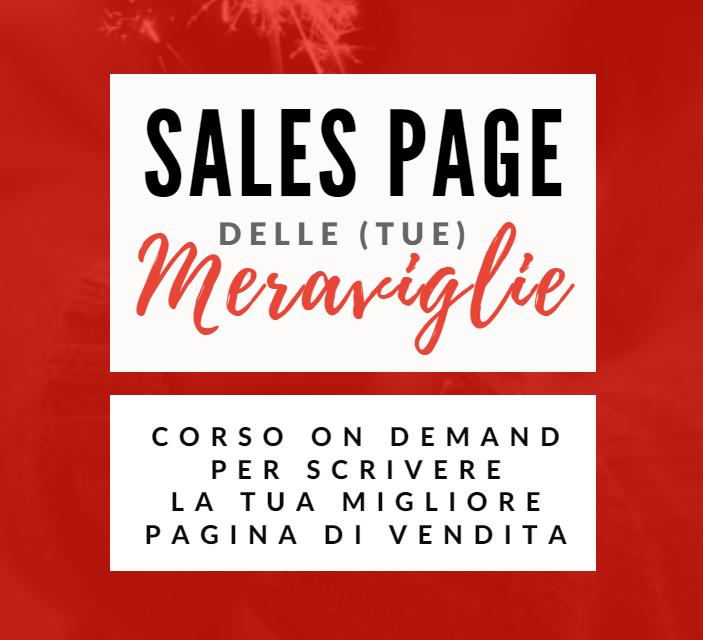 Sales Page delle tue meraviglie