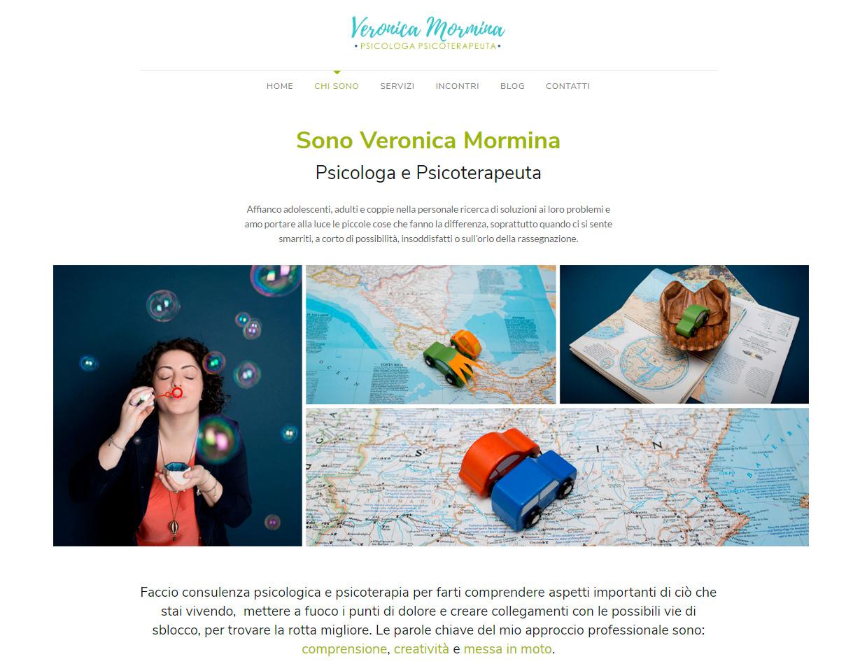 Sito web Veronica Mormina dopo del restyling