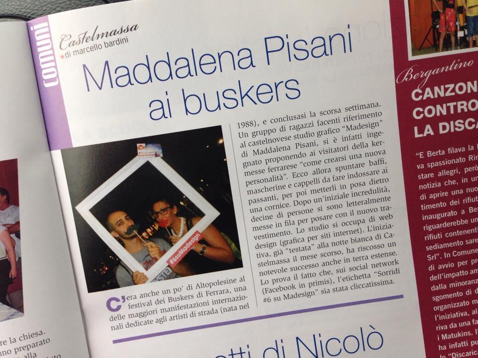 Maddalena Pisani ai buskers a Ferrara