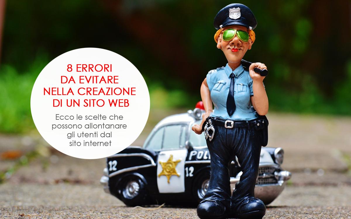 8 errori da evitare nella creazione di un sito web