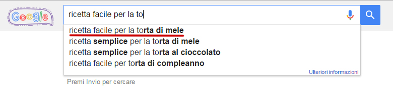 Ricerca parola chiave Google Suggest
