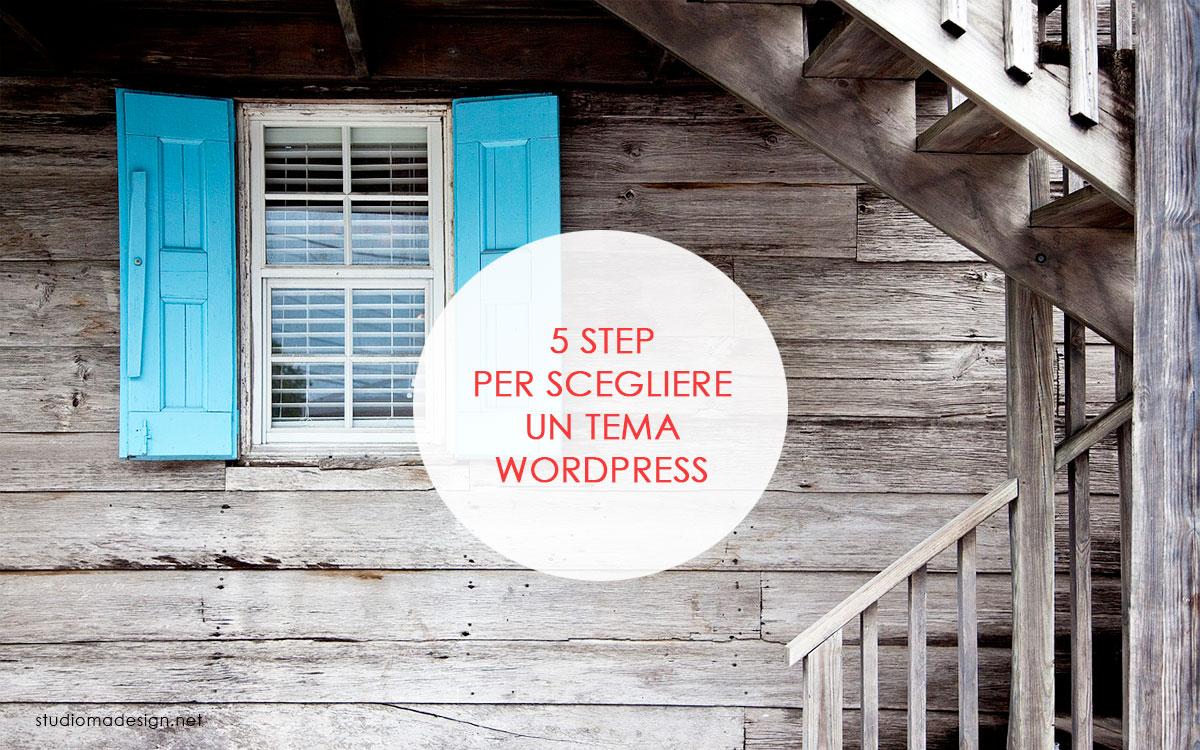 5 step per scegliere un tema WordPress