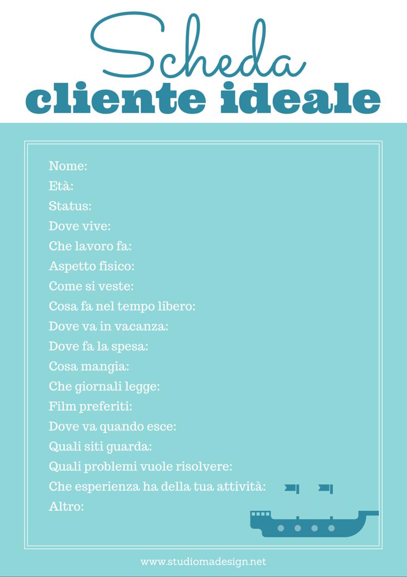 Scheda cliente ideale