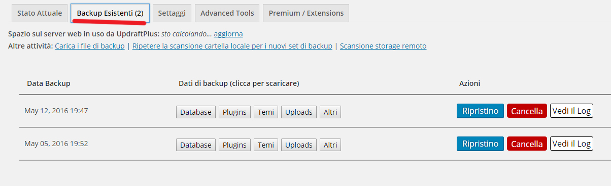 UpdraftPlus Backup/Restore - Come fare un backup sul tuo sito WordPressCome fare un backup sul tuo sito WordPress