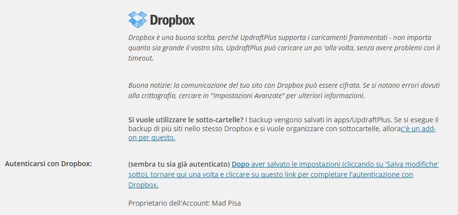 UpdraftPlus Backup/Restore - Come fare un backup sul tuo sito WordPress