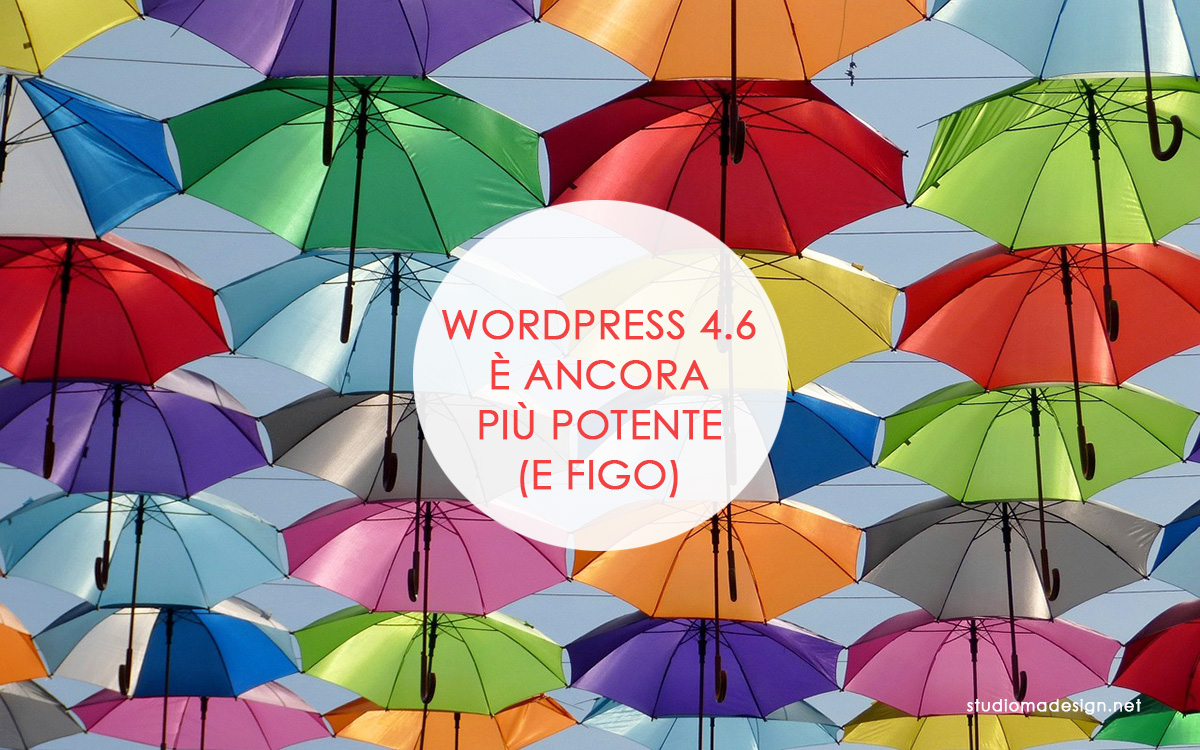 Le novità di WordPress 4.6