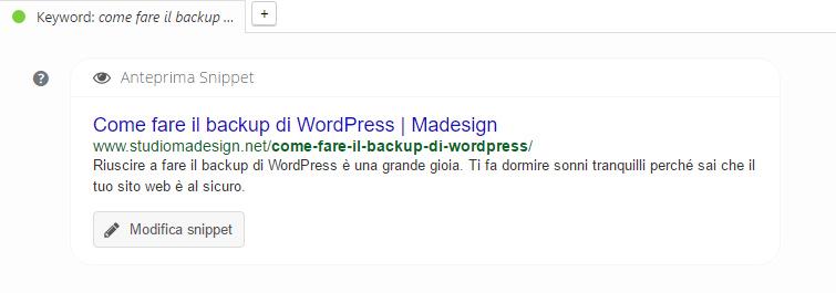 Esempio title Yoast SEO WordPress