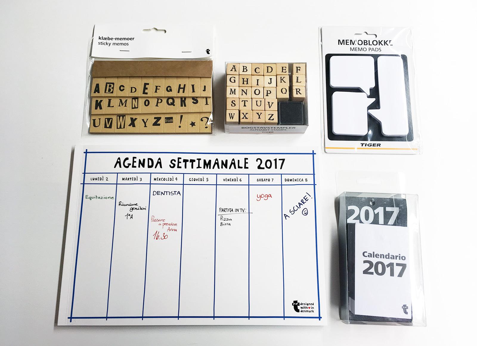 Pianificare il 2017 con planner, stickers e timbri