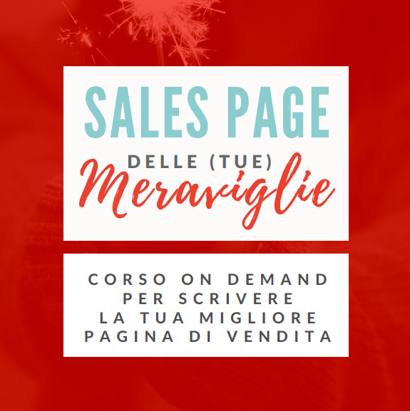 Sales page delle (tue) meraviglie