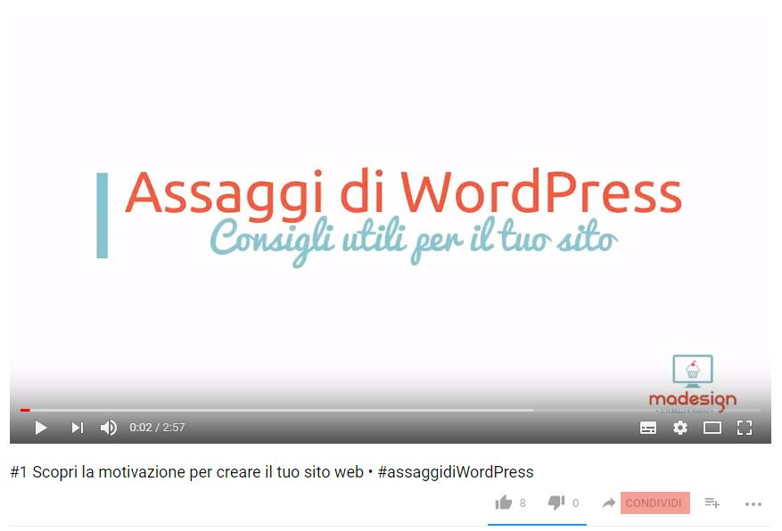 Caricare video su WordPress