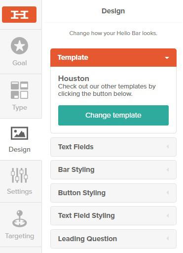 Design Hello Bar